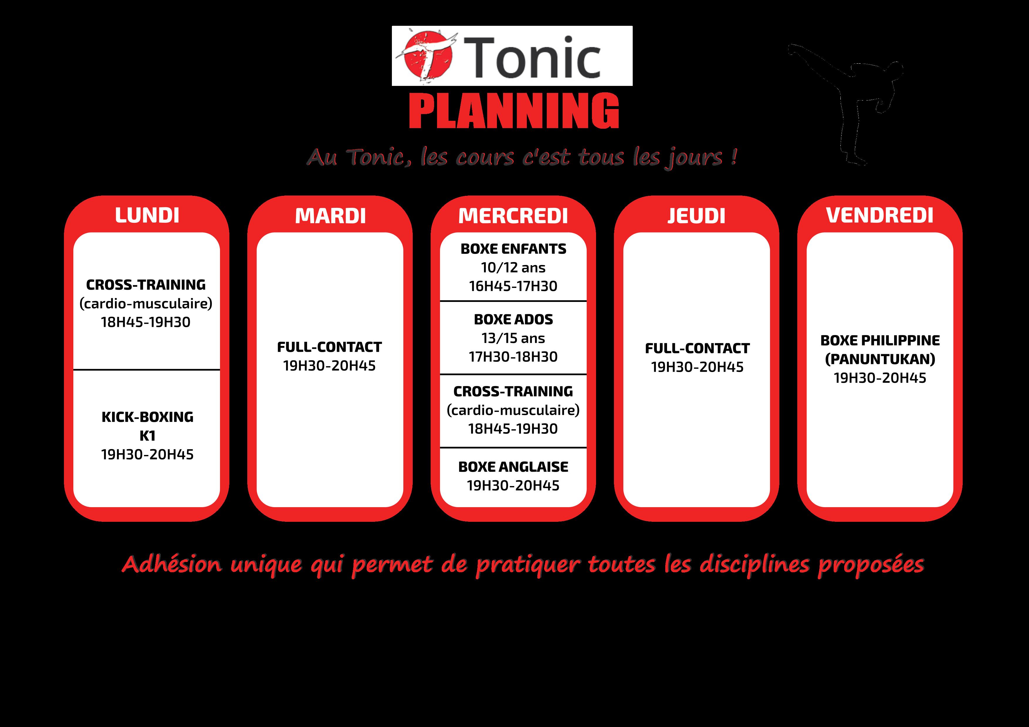Planning Tonic 2021-2022