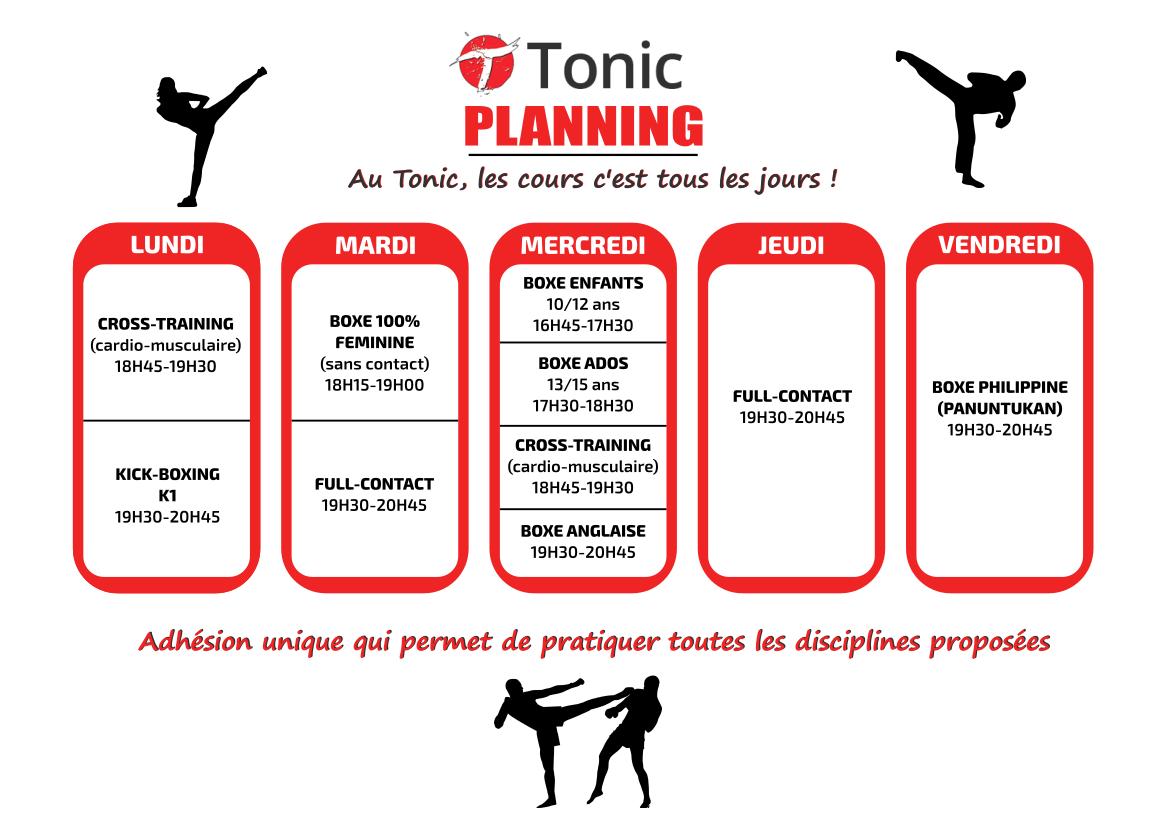 Planning Tonic 2020-2021